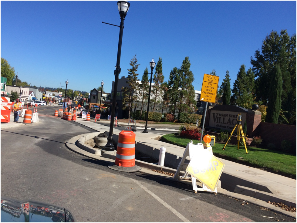 Main Street improvements in Tigard, OR