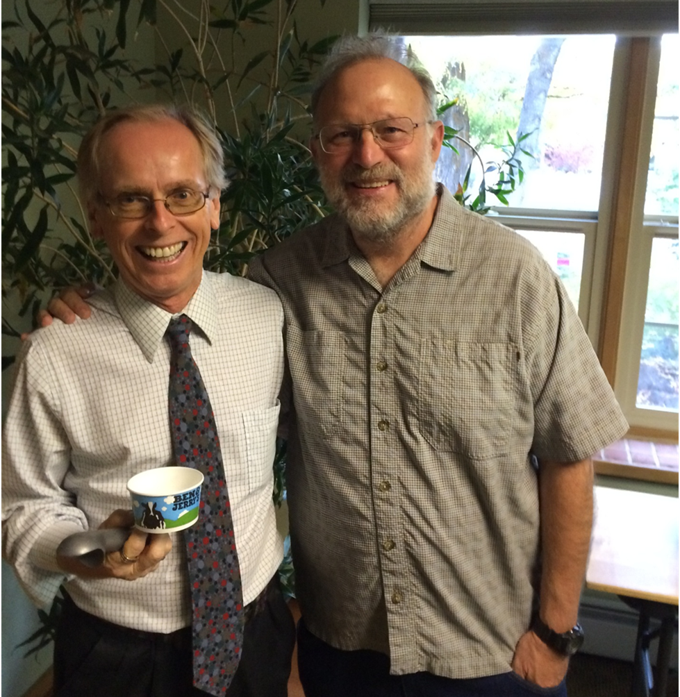 With Jerry Greenfield of Ben and Jerry's in Bend, OR