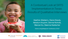 A Contextual Look at Safe Routes to School Program Implementation in Texas: Results of Qualitative Interviews