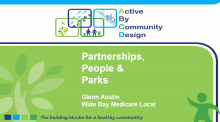 The Active By Community Design Project: Partnerships, People and Parks