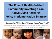 The Role of Health-Related Community Investing as an Active Living Research Implementation Strategy