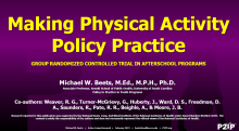 Making Physical Activity Policy Practice: Group Randomized Controlled Trial in Afterschool Programs