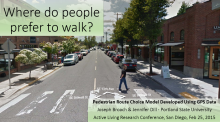 Where Do People Prefer to Walk? A Pedestrian Route Choice Model Developed from GPS Data