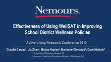 Effectiveness of Using WellSAT in Improving School District Wellness Policies