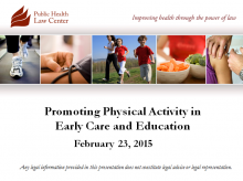 Promoting Physical Activity in Early Care and Education
