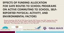 Effects of Funding Allocation for Safe Routes to School Programs on Active Commuting to School, Self-Reported Physical Activity, and Environmental Factors