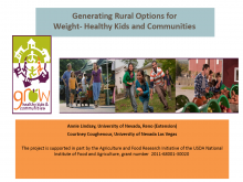 Generating Rural Options for Weight-Healthy Kids and Communities