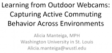 Learning from Outdoor Webcams: Capturing Active Commuting Behavior Across Environments