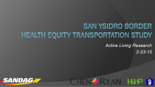 San Ysidro Border Health Equity Transportation Study