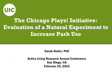 The Chicago Plays! Initiative: Evaluation of a Natural Experiment to Increase Park Use