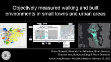Objectively Measured Walking and Built Environments in Small Towns and Urban Areas