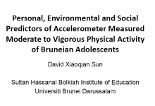 Personal, Environmental and Social Predictors of Accelerometer Measured Moderate to Vigorous Physical Activity of Bruneian Adolescents