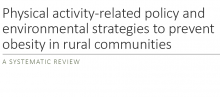 Physical Activity-Related Policy and Environmental Strategies to Prevent Obesity in Rural Communities: A Systematic Review