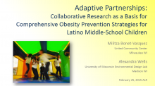 Adaptive Partnerships: Collaborative Research as a Basis for Comprehensive Obesity Prevention Strategies for Latino Middle-School Children