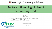 Factors Influencing Choice of Commuting Mode