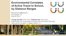 Environmental Correlates of Active Travel to School, by Distance Ranges