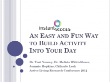 Instant Recess: An Easy and Fun Way to Build Activity Into