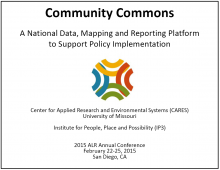 Community Commons: A National Data, Mapping and Reporting Platform to Support Policy Implementation