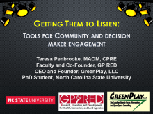Getting Them To Listen: Tools for Community and Decision Maker Engagement