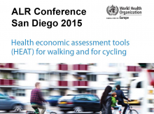 Health Economic Assessment Tools (HEAT) for Walking and for Cycling