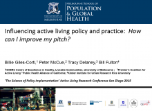 Influencing Active Living Policy and Practice: How Can I Improve My Pitch?