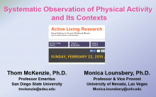 Systematic Observation of Physical Activity and Its Contexts